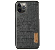 "Кожаная накладка G-Case Crocodile Dark series для Apple iPhone 12 Pro Max (6.7"")"
