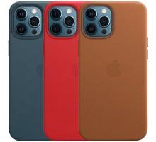 "Кожаный чехол Leather Case (AAA) with MagSafe для Apple iPhone 12 Pro Max (6.7"")"