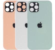 "TPU+Glass чехол GLOSSY Logo Full camera для Apple iPhone 12 Pro Max (6.7"")"