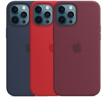 """Чехол Silicone case (AAA) full with Magsafe and Animation для Apple iPhone 12 Pro Max (6.7"""")"""