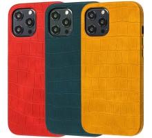 "Кожаный чехол Croco Leather для Apple iPhone 12 Pro Max (6.7"")"