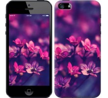Чехол Пурпурные цветы для iPhone 5/5S/SE