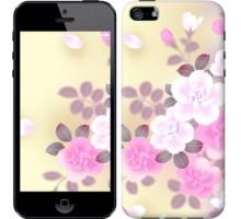 Чехол Японские цветы для iPhone 5/5S/SE
