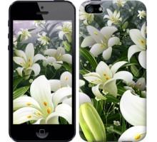 Чехол Белые лилии для iPhone 5/5S/SE