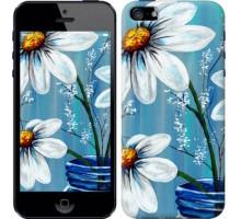 Чехол Красивые арт-ромашки для iPhone 5/5S/SE