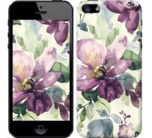 Чехол Цветы акварелью для iPhone 5/5S/SE