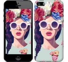 Чехол Девушка с цветами для iPhone 5/5S/SE