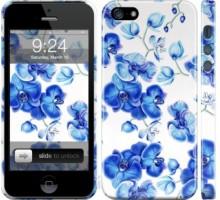 Чехол Голубые орхидеи для iPhone 5/5S/SE