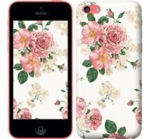 Чехол цветочные обои v1 для iPhone 5c