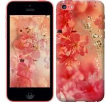 Чехол Розовые цветы для iPhone 5c