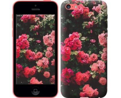 Чехол Куст с розами для iPhone 5c
