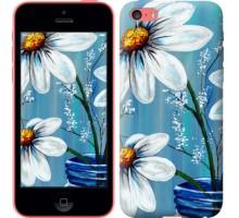 Чехол Красивые арт-ромашки для iPhone 5c