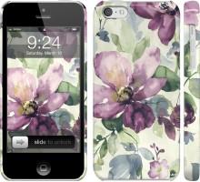 Чехол Цветы акварелью для iPhone 5c