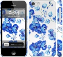 Чехол Голубые орхидеи для iPhone 5c