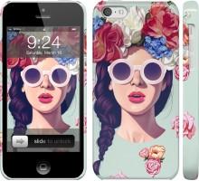 Чехол Девушка с цветами для iPhone 5c