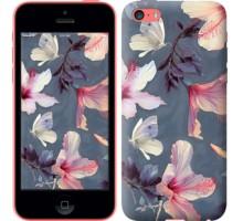 Чехол Нарисованные цветы для iPhone 5c