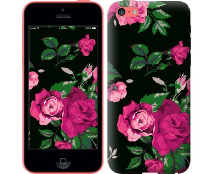 Чехол Розы на черном фоне для iPhone 5c