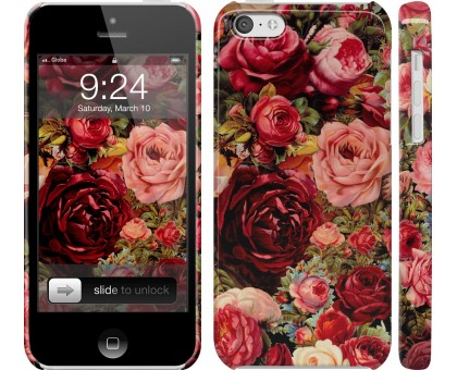 Чехол Цветущие розы для iPhone 5c