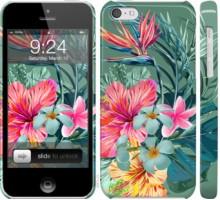 Чехол Тропические цветы v1 для iPhone 5c