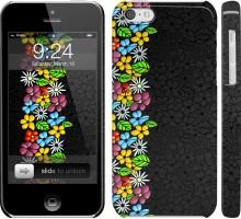 Чехол цветочный орнамент для iPhone 5c