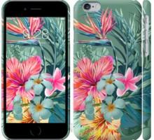 Чехол Тропические цветы v1 для iPhone 6/6s (4.7'')