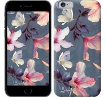 Чехол Нарисованные цветы для iPhone 6/6s (4.7'')