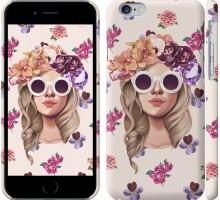 Чехол Девушка с цветами v2 для iPhone 6/6s (4.7'')