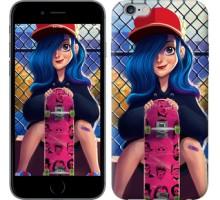 Чехол Прикольная девочка со скейтбордом для iPhone 6 plus/6s plus (5.5'')