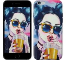 Чехол Арт-девушка в очках для iPhone 6 plus/6s plus (5.5'')