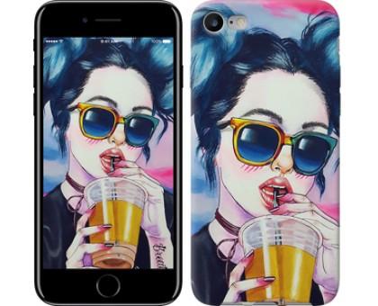 Чехол Арт-девушка в очках для iPhone 8 (4.7)