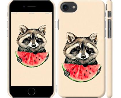 Чехол Енотик с арбузом для iPhone 8 (4.7)