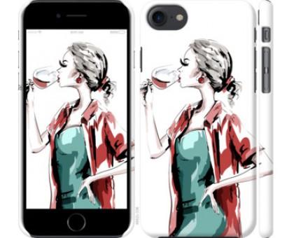 Чехол Девушка с бокалом для iPhone 8 (4.7)