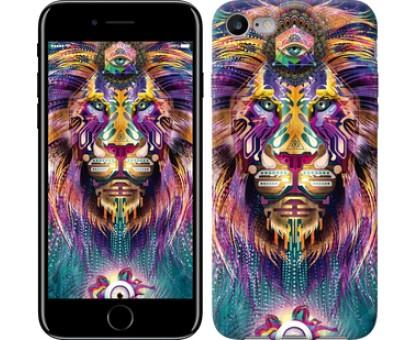 Чехол Люминесцентный лев для iPhone 8 (4.7)
