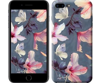 Чехол Нарисованные цветы для iPhone 8 Plus