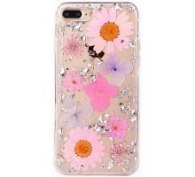 "TPU чехол ""Flowers and tinsel "" для Apple iPhone 7 plus / 8 plus (5.5"")"