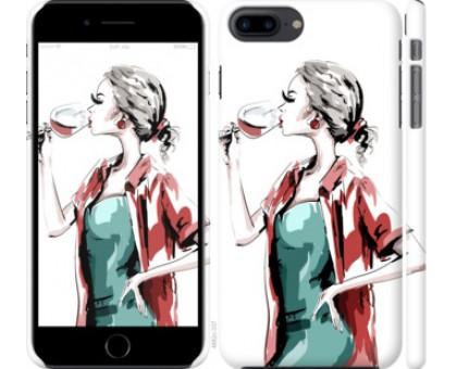 Чехол Девушка с бокалом для iPhone 8 Plus