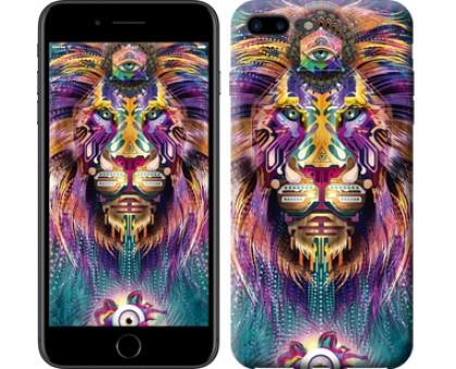 Чехол Люминесцентный лев для iPhone 8 Plus