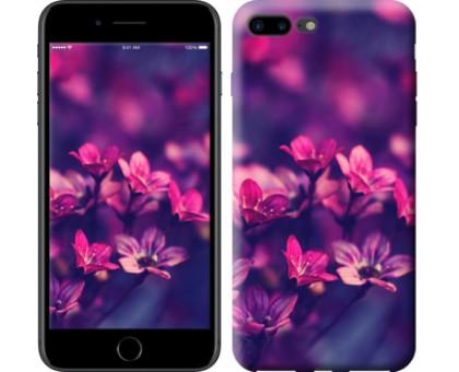 Чехол Пурпурные цветы для iPhone 8 Plus