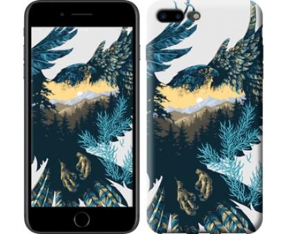 Чехол Арт-орел на фоне природы для iPhone 8 Plus