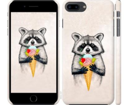 Чехол Енотик с мороженым для iPhone 8 Plus