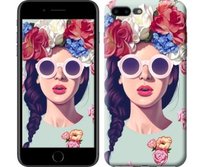 Чехол Девушка с цветами для iPhone 8 Plus