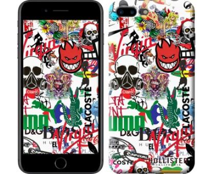 Чехол Many different logos для iPhone 8 Plus