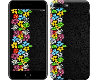Чехол цветочный орнамент для iPhone 8 Plus