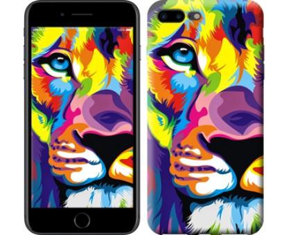 Чехол Разноцветный лев для iPhone 8 Plus