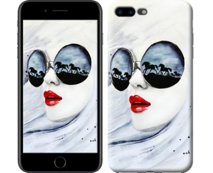Чехол Девушка акварелью для iPhone 8 Plus