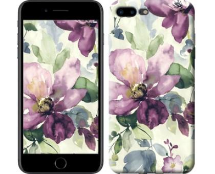Чехол Цветы акварелью для iPhone 8 Plus