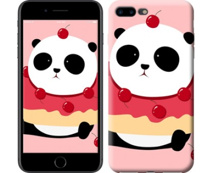 Чехол Панда с пончиком для iPhone 8 Plus