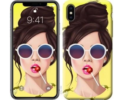 Чехол Девушка с чупа-чупсом для iPhone X (5.8)