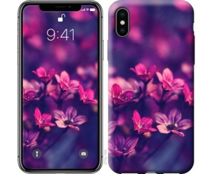 Чехол Пурпурные цветы для iPhone X (5.8)