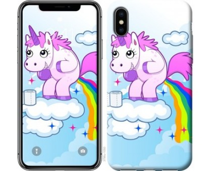Чехол Единорожка для iPhone X (5.8)